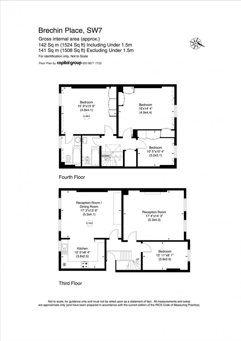 Floorplans For Brechin Place, South Kensington, SW7