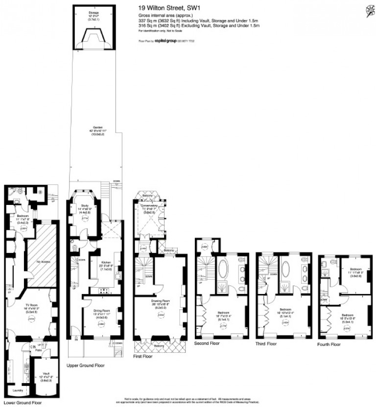 Floorplans For Wilton Street, Belgravia, SW1X
