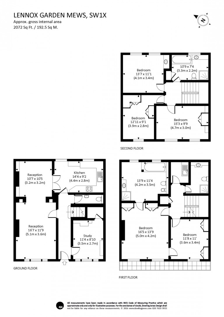 Floorplans For Lennox Gardens Mews, Chelsea, SW1X