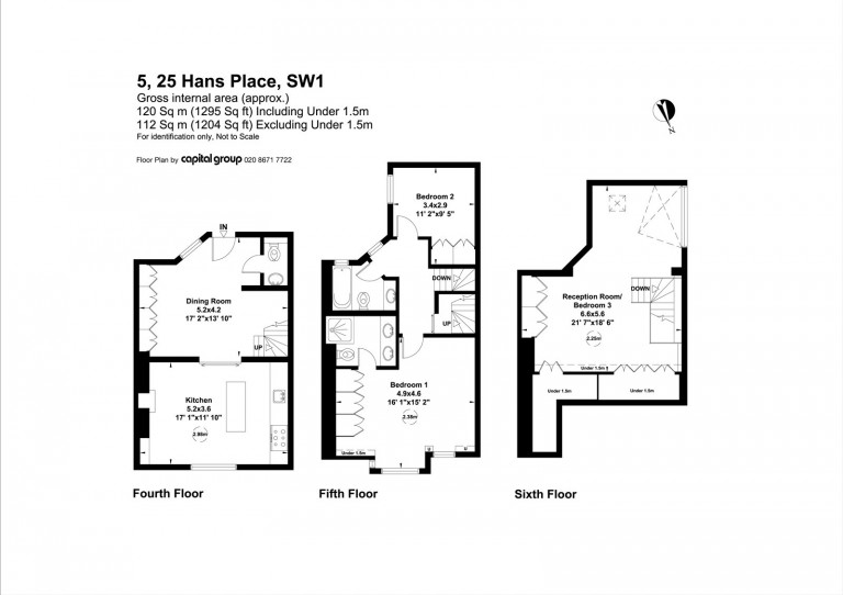 Floorplans For Hans Place, Knightsbridge, SW1X