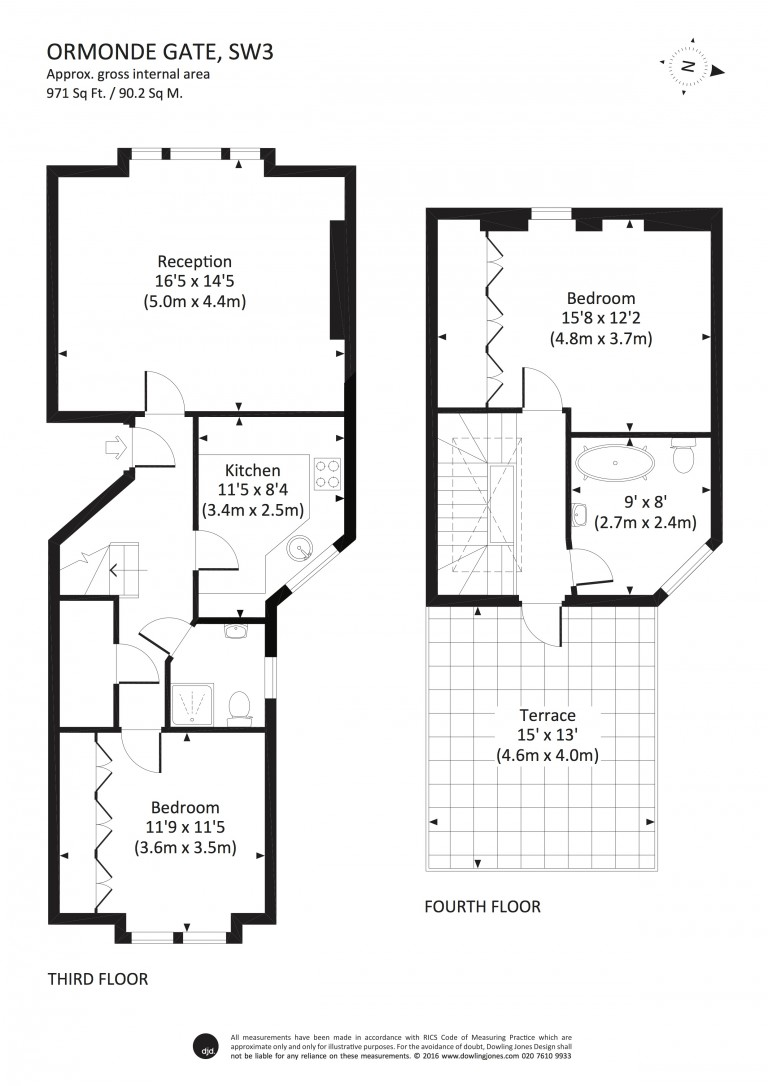 Floorplans For Ormonde Gate, Chelsea SW3