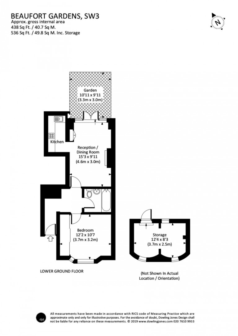 Floorplans For Beaufort Gardens, Knightsbridge