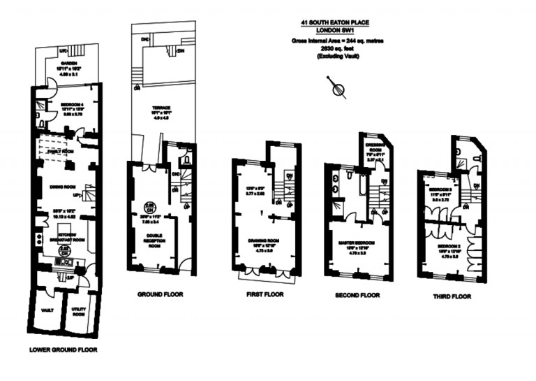 Floorplans For South Eaton Place, Belgravia, SW1W